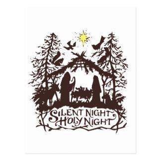 Noche silenciosa postal