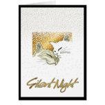 Noche silenciosa tarjeta