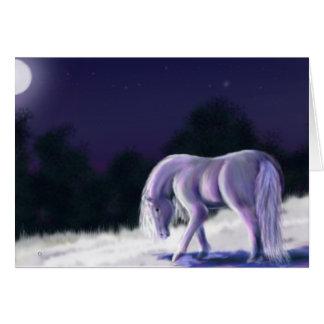Noche silenciosa tarjeta pequeña