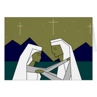 Noche silenciosa tarjeta de felicitación