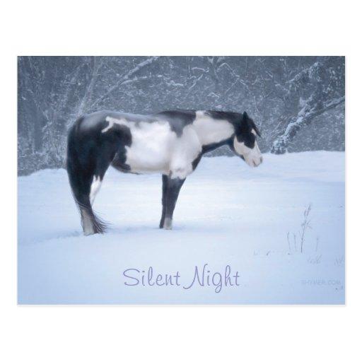 Noche silenciosa tarjetas postales