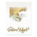 Noche silenciosa tarjeta postal