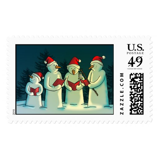 Noche silenciosa timbre postal