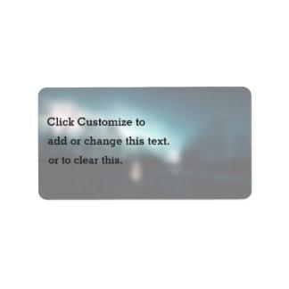 Noche temática, una imagen borrosa algo Snappe Etiquetas De Dirección