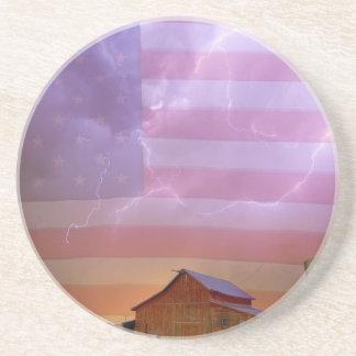 Noche tempestuosa del país americano posavasos diseño