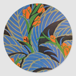 Noche tropical de Nouveau del arte - pegatina