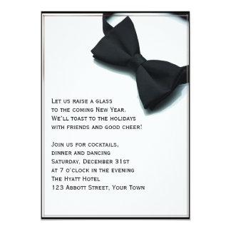 Noche Vieja el asunto de lazo negro Invitación 12,7 X 17,8 Cm