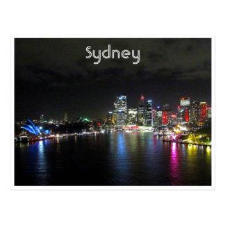 noche viva de Sydney Tarjetas Postales
