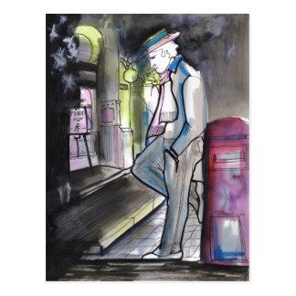 Noche y Buzon Tango Postcard