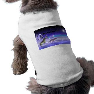 Nochebuena ártica playera sin mangas para perro