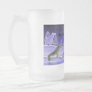 Nochebuena ártica Stein Taza Cristal Mate