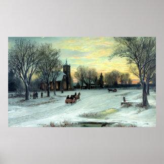 Nochebuena de W.C. Bauer Póster