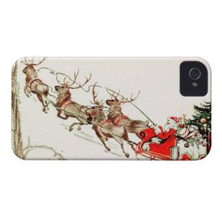 Nochebuena del trineo del reno de Papá Noel del iPhone 4 Protector
