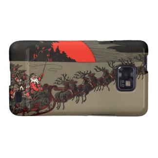 Nochebuena del trineo del reno de Papá Noel del Galaxy SII Carcasas
