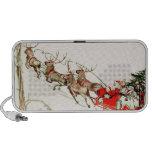 Nochebuena del trineo del reno de Papá Noel del vi iPhone Altavoz