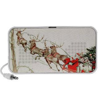 Nochebuena del trineo del reno de Papá Noel del vi Altavoz