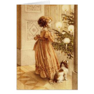 Nochebuena del vintage - tarjeta