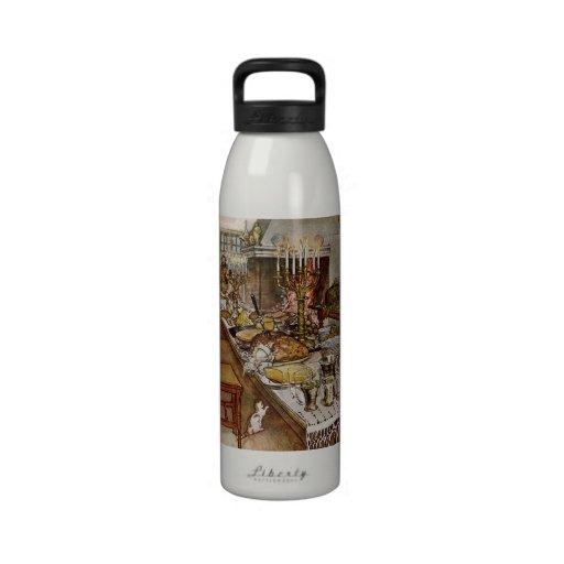 Nochebuena Julaftonen Botellas De Agua Reutilizables