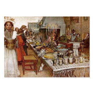 Nochebuena Julaftonen Tarjeta De Visita