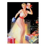 Nochebuena modela tarjeta postal