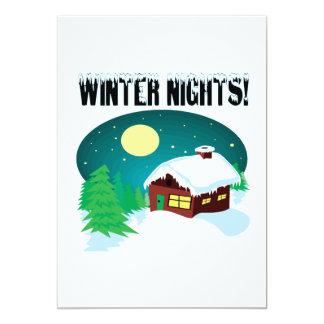 """Noches 2 del invierno invitación 5"""" x 7"""""""