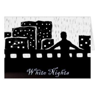 Noches blancas tarjeta de felicitación