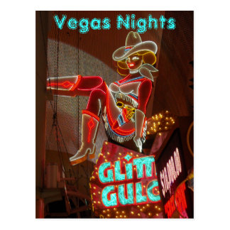 Noches céntricas de Las Vegas Tarjeta Postal