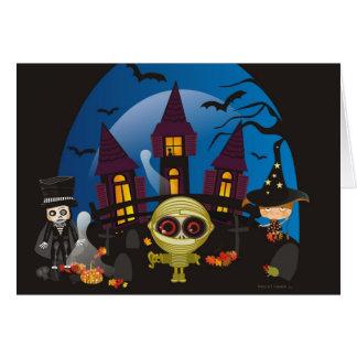 Noches de Halloween que frecuentan Tarjeta Pequeña