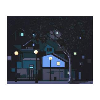 Noches de la ciudad lona envuelta para galerias