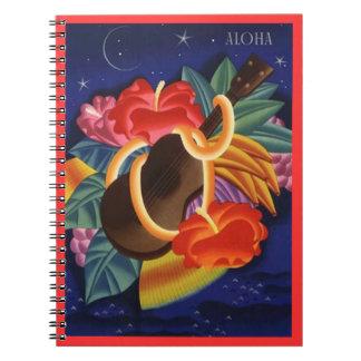 Noches de la isla del Ukulele del diario de la haw Libros De Apuntes Con Espiral