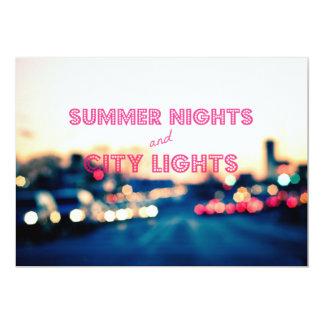 """Noches de verano y luces de la ciudad invitación 5"""" x 7"""""""