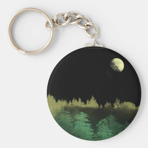 Noches del bosque llavero redondo tipo pin
