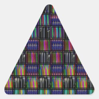 Noches del festival triangulares calcomania de triangulo