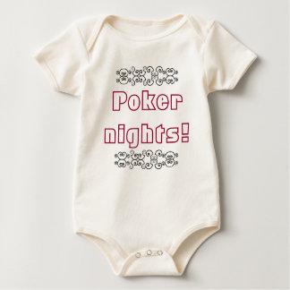 Noches del póker body para bebé