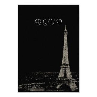 """Noches en París RSVP Invitación 3.5"""" X 5"""""""