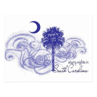 Noches estrelladas en Carolina del Sur Postal