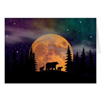 Noches septentrionales - aurora boreal tarjeta de felicitación