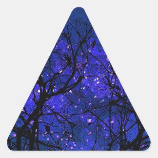Noches soñadoras pegatina triangular