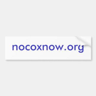nocoxnow.org pegatina para auto