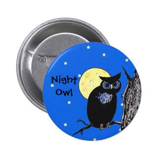 Noctámbulo en el botón de la luna pin redondo de 2 pulgadas