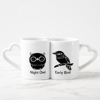 Noctámbulo/temprano pájaro taza para parejas