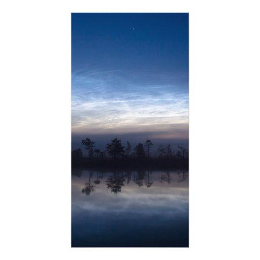 Noctilucent Clouds Soomaa National Park Estonia Photo Card