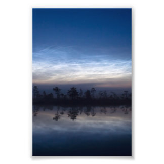 Noctilucent Clouds Soomaa National Park Estonia Photographic Print