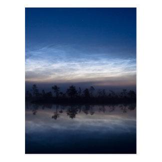 Noctilucent Clouds Soomaa National Park Estonia Postcard