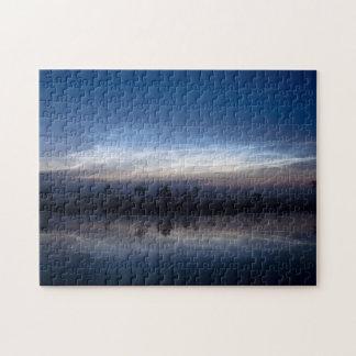 Noctilucent Clouds Soomaa National Park Estonia Jigsaw Puzzle