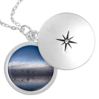 Noctilucent Clouds Soomaa National Park Estonia Round Locket Necklace