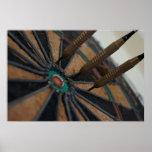 Nocturmia Photography Darts in a Dart Board Print