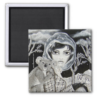 Nocturnal 2 Inch Square Magnet