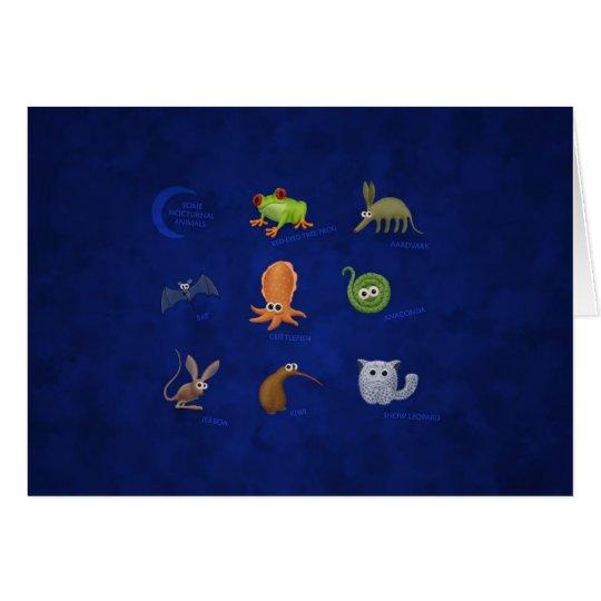 Nocturnal Animals Card