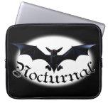 Nocturnal Bat Laptop Sleeves